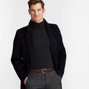Brooks Brothers Men's Long Town Coat, Black, 44R,